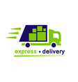 delivery truck flat icon isolated on white vector image vector image