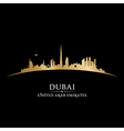 Dubai UAE skyline Detailed silhouette vector image