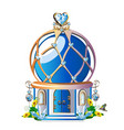 fairytale house with blue crystals vector image vector image