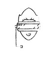 figure boy face with 3d glasses to dimension