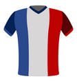 flag t-shirt of france vector image