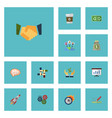 flat icons help rocket agreement and other vector image vector image
