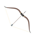 flat style colored medieval bow arrow icon vector image