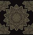 floral ornamental arabesque mandalas seamless vector image