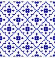 flower tile pattern vector image vector image
