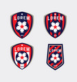 football logo badge isolated in white background vector image vector image