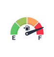 fuel meter automobile indicator template gas vector image