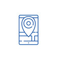 geolocation line icon concept geolocation flat vector image vector image