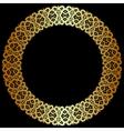 gold openwork frame vector image vector image