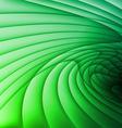 Green wavy stripes vector image vector image