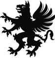 griffin tattoo blackwhite silhouette vector image vector image