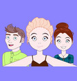 group of young people taking selfie together happy vector image vector image