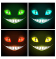 halloween creepy posters set fantasy scary vector image