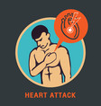 Heart attack logo icon design