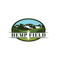 hemp yard and farm emblem logo design vector image