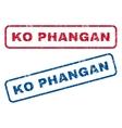 Ko Phangan Rubber Stamps vector image