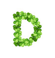 letter d clover ornament vector image vector image