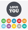 Love you sign icon Valentines day symbol vector image vector image