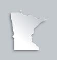 Map of Minnesota vector image vector image