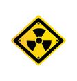 metal emblem warning radiation sign vector image vector image