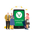 mobile transaction approved vector image vector image