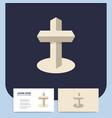modern church 3d cross logo christian symbol vector image vector image