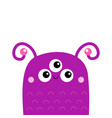 monster face head icon happy halloween eyes vector image