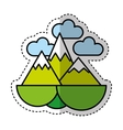 mountain silhouette isolated icon vector image vector image