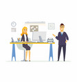 office life - modern cartoon business vector image vector image