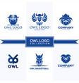 owl logo collection vector image