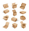 packages boxes opened top isolated icon vector image vector image