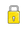 padlock to have security special thing vector image vector image