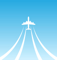 Plane Takeoff White Icon vector image
