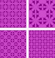 Purple seamless pattern background set vector image vector image