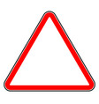 road sign isolated on white editable graphic vector image vector image