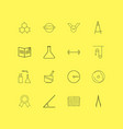 science linear icon set simple outline icons vector image