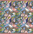 seamless pattern with abstract broken colorful