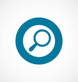 search bold blue border circle icon vector image vector image