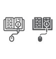 search of knowledge line and glyph icon vector image