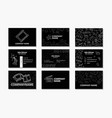 set creative business cards vector image