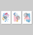 set creative hand painted vector image vector image