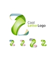 Set of abstract Z letter company logos Business vector image