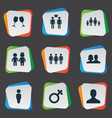 set simple lovers icons vector image
