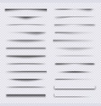 shadow dividers realistic web elements frames vector image vector image