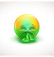 sick emoticon with tongue out - vector image vector image