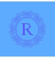 Simple Monogram R Design vector image