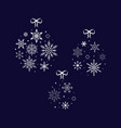 snowflake ball christmas and new year vector image