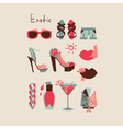 summer collection isolated woman clothes and vector image vector image