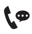 telephone receiver icon on white background phone vector image vector image