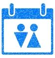 Toilet Calendar Day Grainy Texture Icon vector image vector image